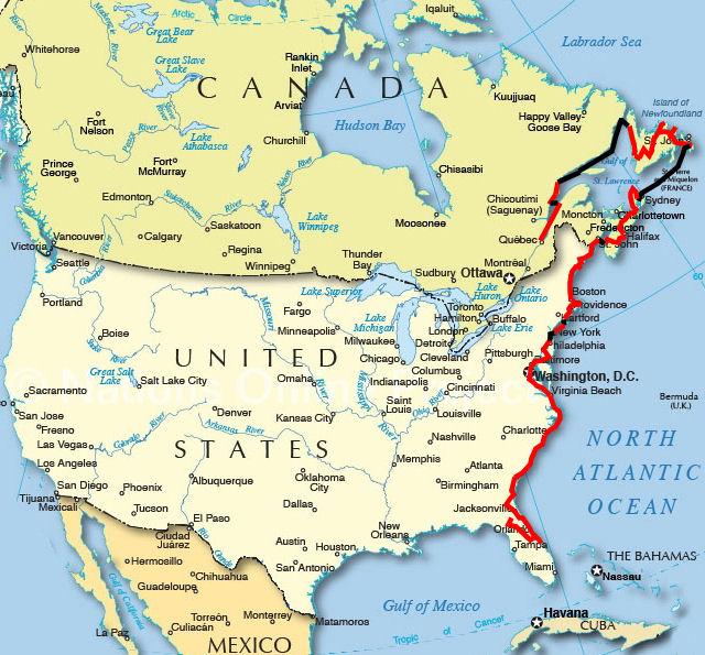 Mapa Mapa Usa A Kanady
